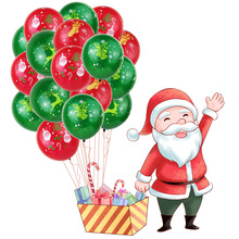10 pcs/lot 12 Inch  Dark Green Printing Latex Balloons Christmas Decoration New Year