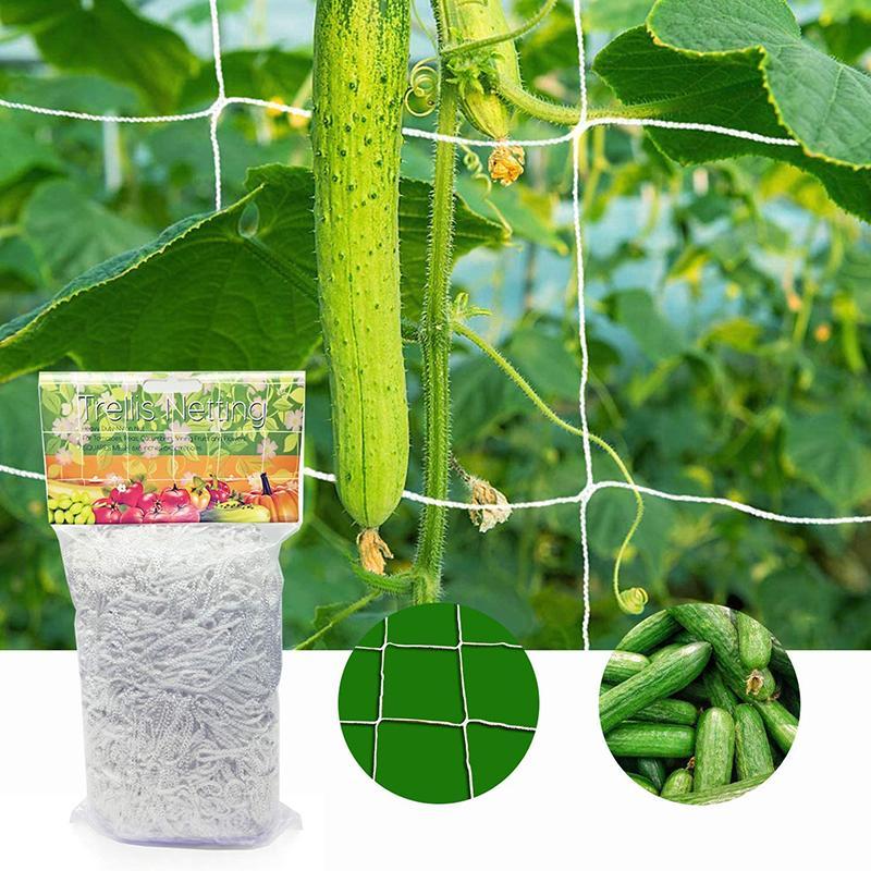 20 м садовая сетка для выращивания растений, сверхпрочная сетка для посадки лозы, садовая плетеная рама для выращивания овощей, цветов, огурц...