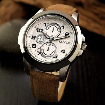 YAZOLE Men Watch Top Luxury Brand Sport Watches Mens Quartz Wristwatch Male Clock Relogio Masculino YZL350 - sale item Men's Watches