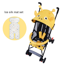 Baby stroller is light and easy to carry, can sit and lie down trolley, simple folding mini breathable umbrella cart