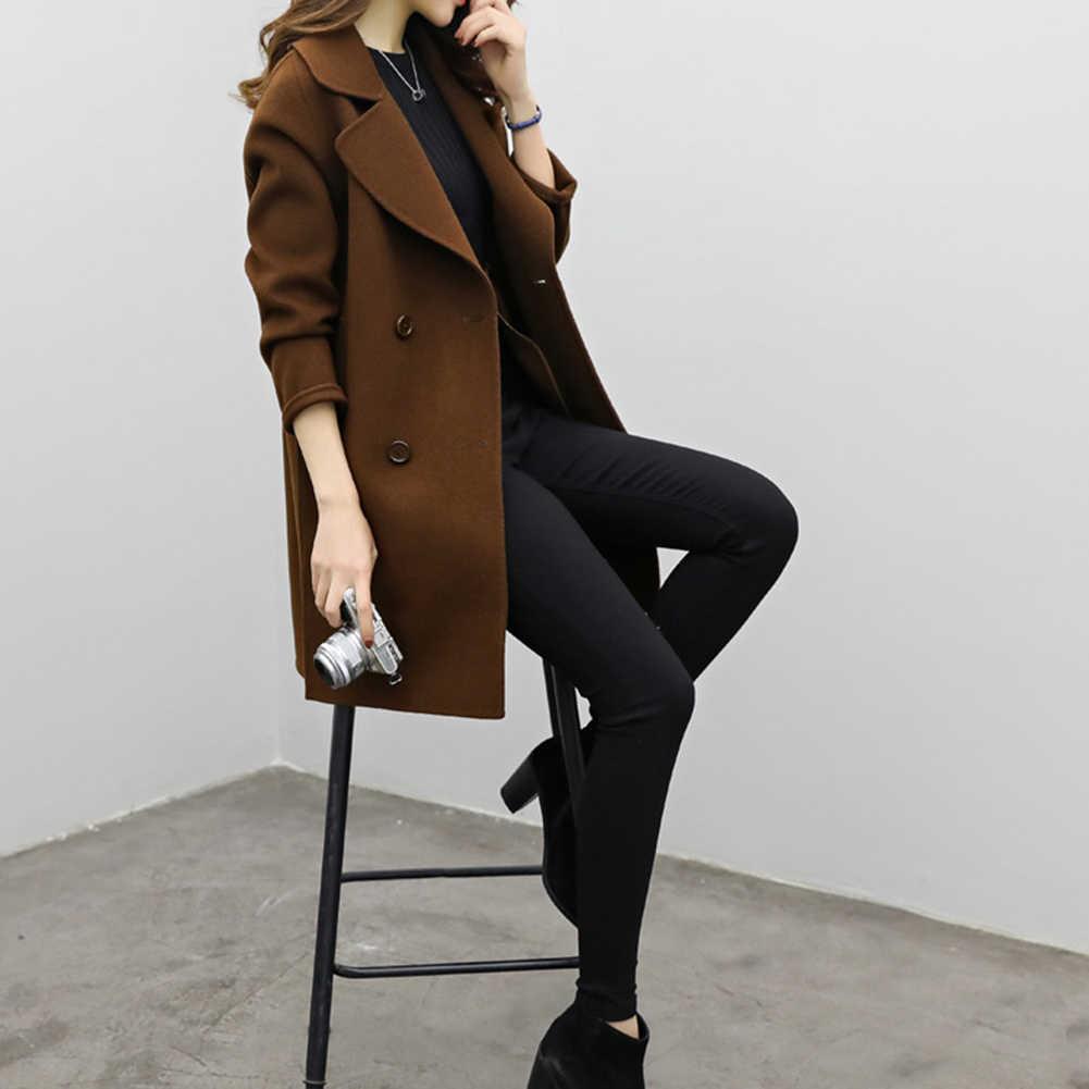 Zweireiher Damen Langarm Lose Anzug Mantel Jacke Frauen blazer Weibliche Feste farbe lange anzug lose dünne jacke