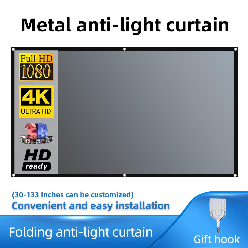 Salange tela do projetor de metal anti luz cortina tecido reflexivo pano para yg300 j15 xgimi h2 auréola mogo xiaomi dlp projetor
