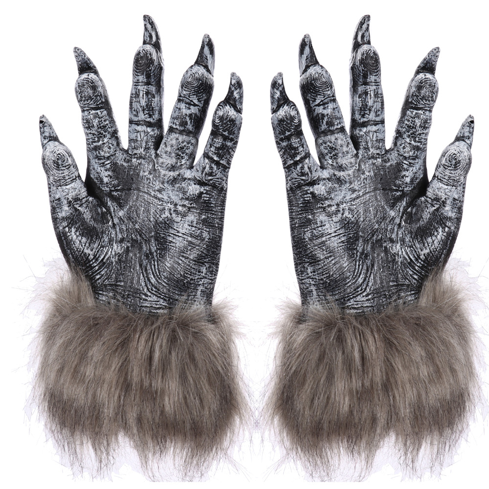 1 Pair Halloween Latex Lobster Crab Claws Cosplay Animal Claws Lobster Gloves 2
