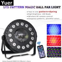 30 واط RGB LED كريستال ماجيك الكرة Led مصباح منصة DJ KTV ضوء ليزر للديسكو مصابيح حفلات الصوت IR التحكم عن بعد جهاز عرض الكريسماس