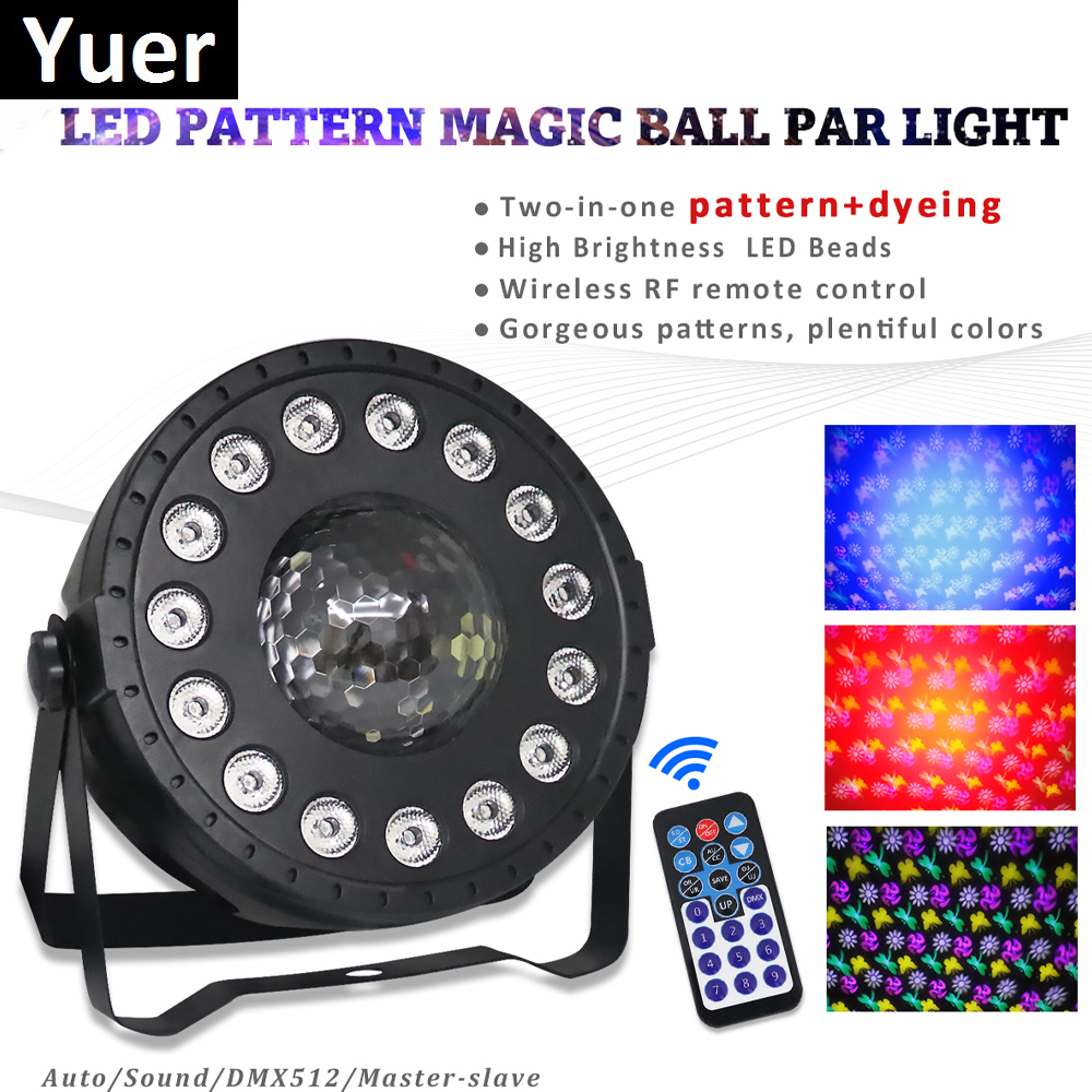 30W RGB LED Crystal Magic Ball Led Stage Lamp DJ KTV Disco Laser Light Party Lights Sound IR Remote Control Christmas Projector