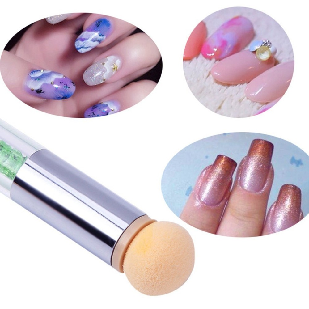 HOT 6 Pcs Replace Sponges Of Dual-ended Blooming Nail Pen Drawing And Dotting Nail Polish Professional Manicure Tool NEW SELLING