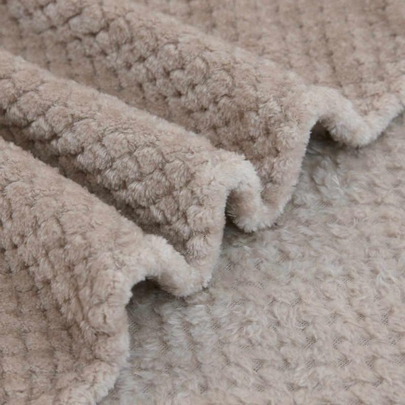 סופר רך שמיכת פלנל מטוסי ספה להשתמש משרד ילדי שמיכת מגבת נסיעות צמר רשת נייד לרכב נסיעות כיסוי שמיכה
