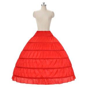 Image 5 - Wedding Accessories Petticoat Vestido Longo Ball Gown Crinoline Underskirt 6 Hoops Skirt Petticoats In Stock