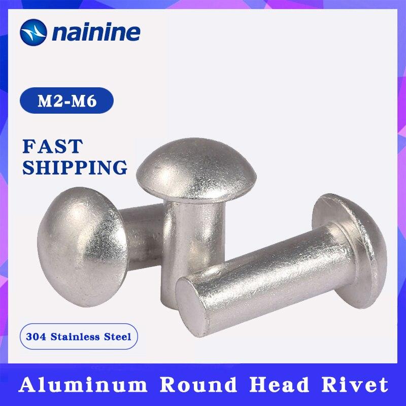 [M2-M6] GB867 Aluminum Solid Round Head Rivet Alloy Self-plugging Rivet HW173