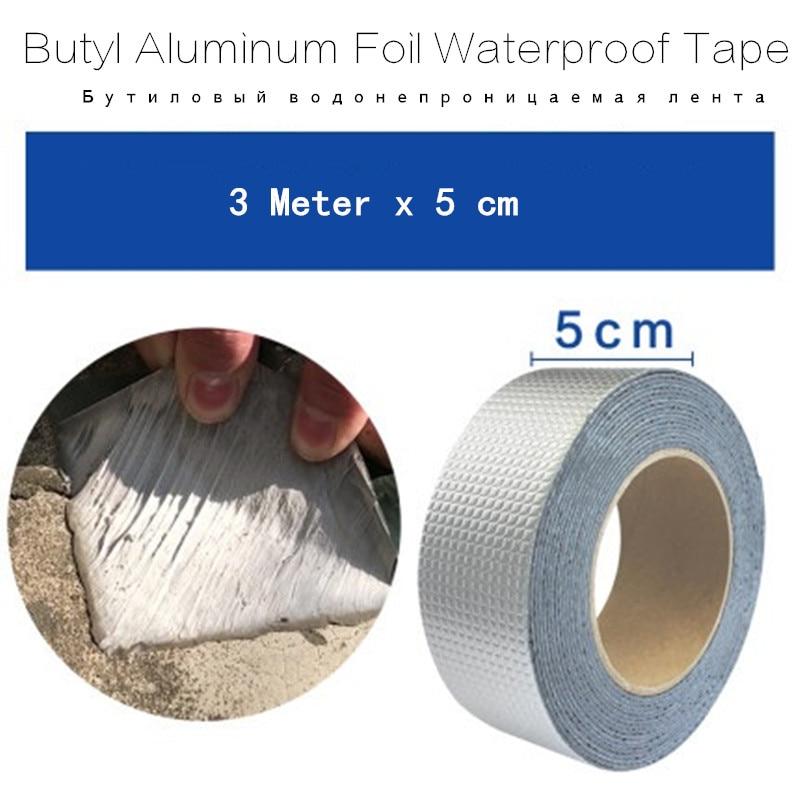 Aluminum Foil Adhesive Butyl Tape Waterproof Duct Tape Super Repair Crack Thicken Butyl Waterproof Tape Home Renovation Tools