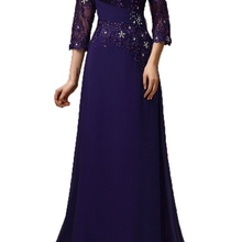 2020 purple long Mother Of The Bride Dresses