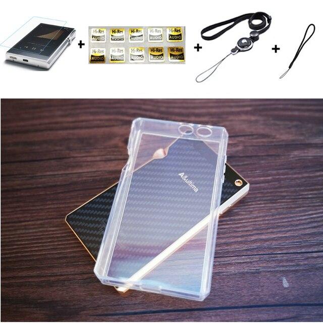 Yumuşak temizle kristal TPU deli kılıf kapak için Iriver Astell & Kern SP1000 ön ekran koruyucu temperli cam