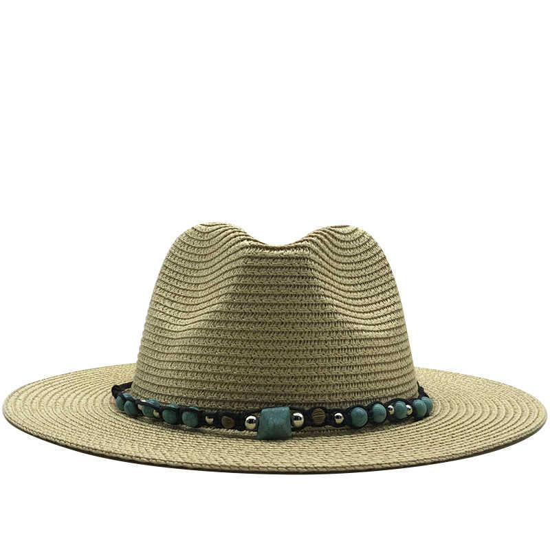 2020 Wanita Sederhana Panama Topi Musim Panas Matahari Topi untuk Pria Jerami Topi untuk Gadis UV Perlindungan Cap Chapeau Femme
