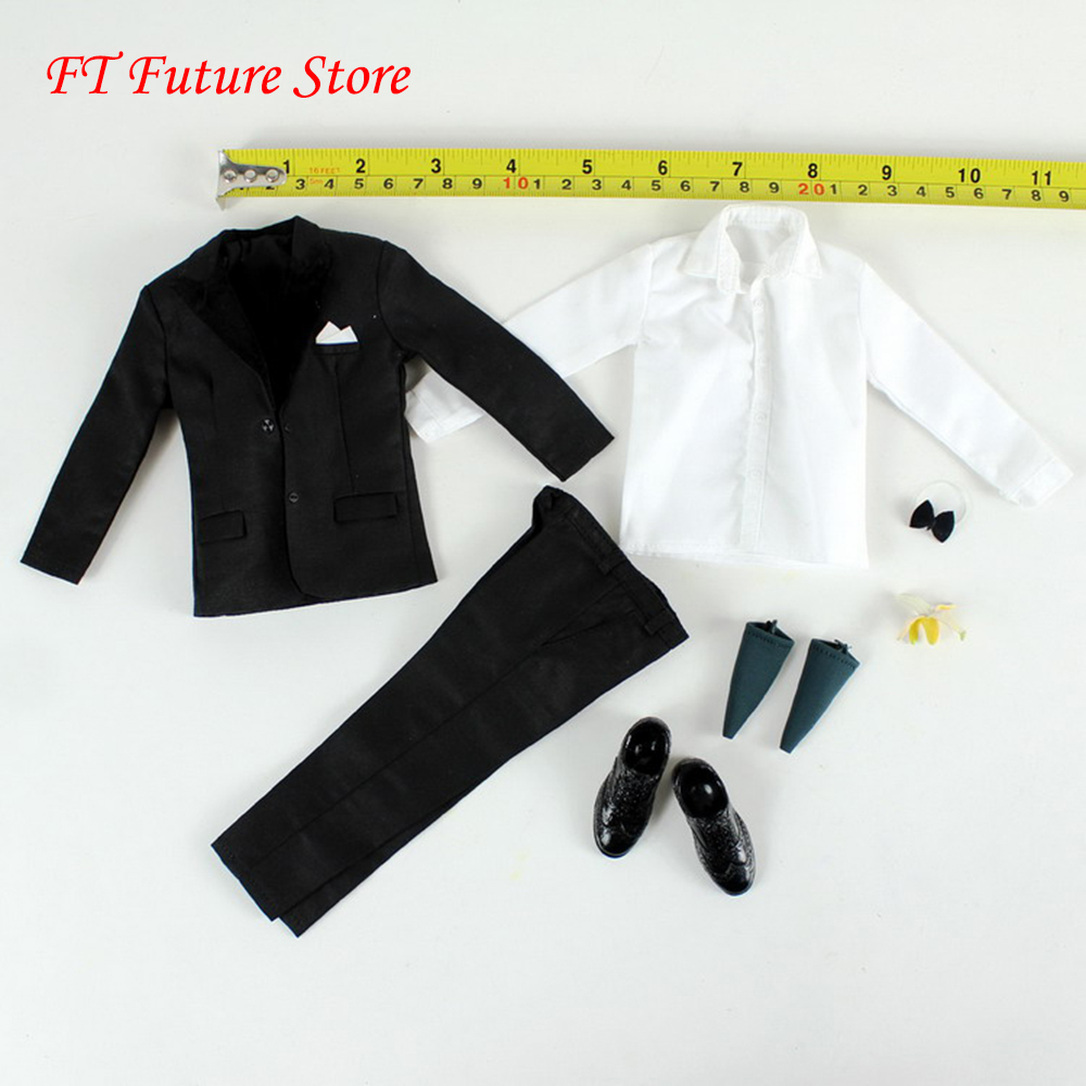 1/6 Scale Figure Clothes Accessory Mens Hommes MH14 Special Suit Agent <font><b>Mr</b></font>. <font><b>Bean</b></font> <font><b>Costume</b></font> for 12