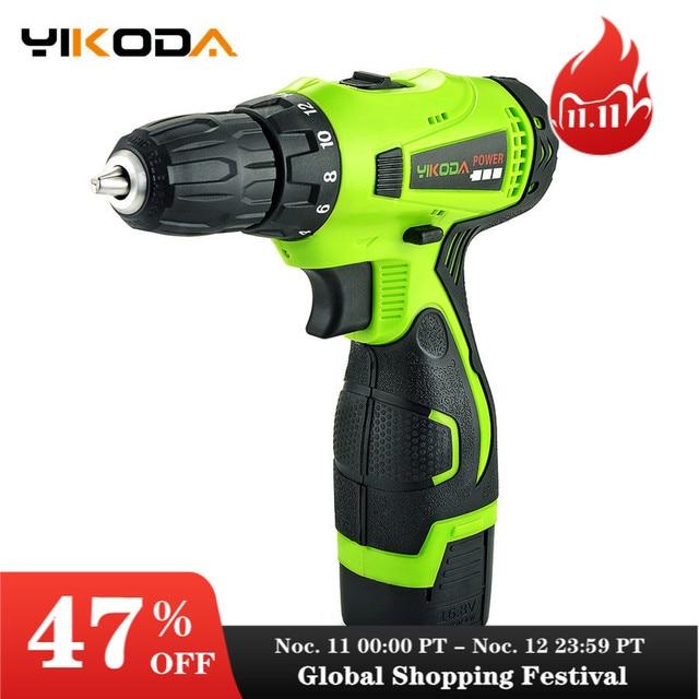 YIKODA destornillador eléctrico de 16,8 V, Taladro Inalámbrico, batería de litio recargable de doble velocidad, Mini controlador, herramientas eléctricas para el hogar