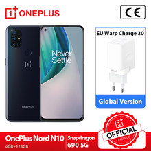 OnePlus Nord N10 5G OnePlus resmi mağaza dünya prömiyeri küresel sürüm 6GB 128GB Snapdragon 690 Smartphone 90hz ekran 64MP