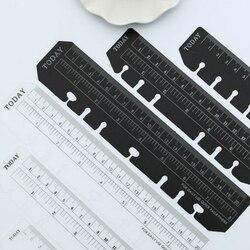 A5 luźny liść zakładka linijka DIY luźny liść notatnik A6 szablony projektowe do pikowania akcesoria kawaii elastyczne linijki