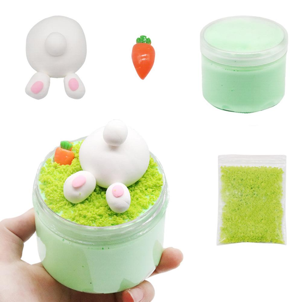 DIY Rabbit Carrot Slime Kit Fluffy Putty Clay Plasticine Educational Kids Toy  Not Stick To Tile Clothes Carpets Great Gifts