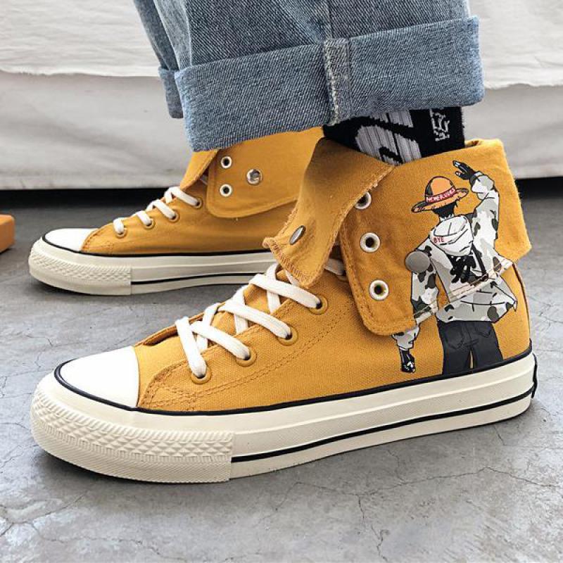 Mens One Piece Canvas Shoe Super High