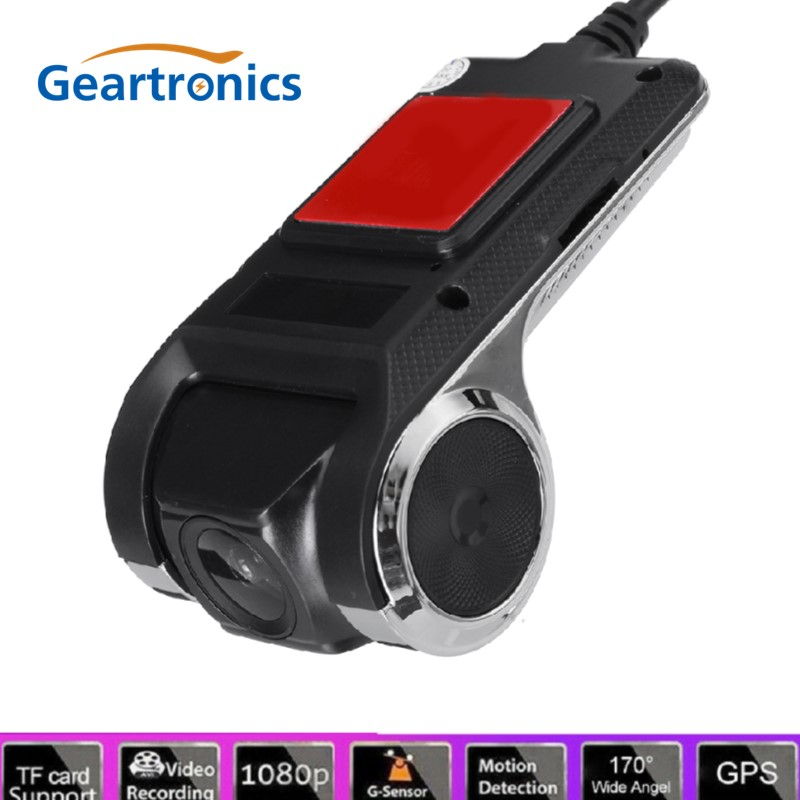 Geartronics <font><b>USB</b></font> ADAS Car <font><b>DVR</b></font> Dash <font><b>Cam</b></font> Full HD For Car DVD Android Player Navigation Floating Window Display LDWS G-Shock image
