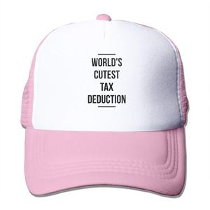 World's Cutest Tax Deduction Mesh Baseball Cap Unisex Trucker Style Hat Pink(China)