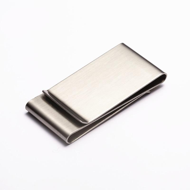 Men Women Stainless Steel Money Clip Cash Note Credit Card Holder Wallet Purse