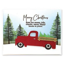 Christmas Car Metal Cutting Dies for Card Making