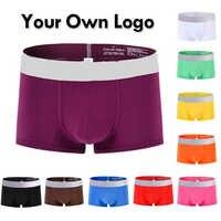 Personalizar su logotipo Pantalones cortos hombres ropa interior de Escocia suave de los boxeadores de los hombres de Boxer Shorts