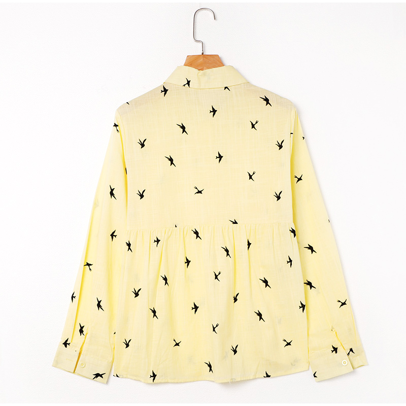Haacb8df8fe654d8b8dffc36b703d9688W - Women's Birds Print Shirts 35% Cotton Long Sleeve Female Tops Spring Summer Loose Casual Office Ladies Shirt Plus Size 5XL
