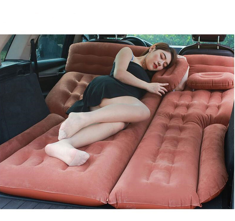 2021 Camping Car Bed 185*110CM Car Mattress Car Back Seat Cover Air Mattress Colchon Inflable Para Auto Travel Bed For SUV