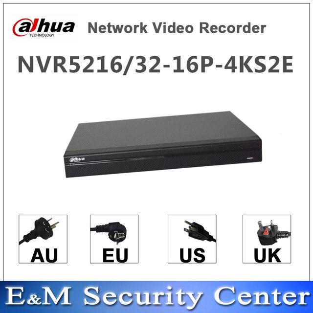 מקורי dahua אנגלית NVR NVR5216 16P 4KS2E NVR5232 16P 4KS2E 16ch 32ch NVR 4K H.265 PoE רשת וידאו מקליט
