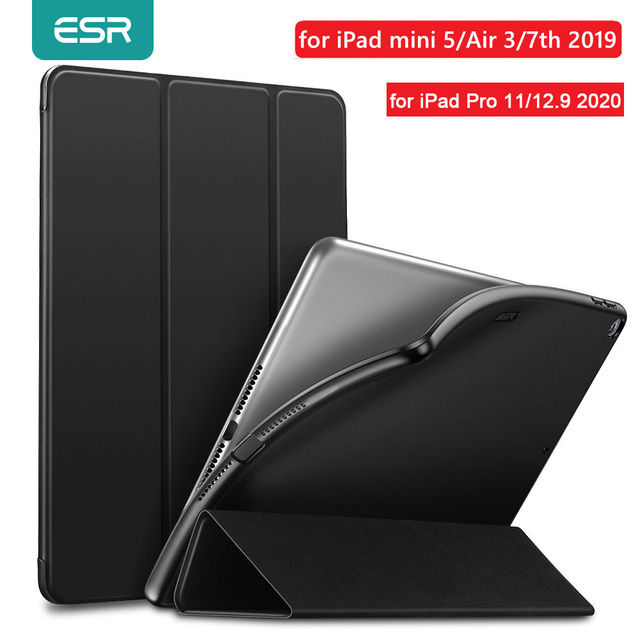 ESR Case for iPad mini 5 Air 3 2019 Air 3 Leather TPU Back Magnet Smart Cover for iPad 7 7th Gen 10.2 for iPad Pro 2020 11 12.9