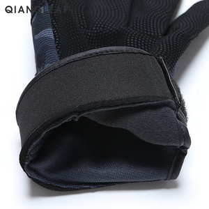 Image 4 - QIANGLEAF Tactical Pu Work Gloves Anti Slip Hunting Camping Cycling Camouflage Outdoor Sport Fishing Safety Cycling Glove 2500MC
