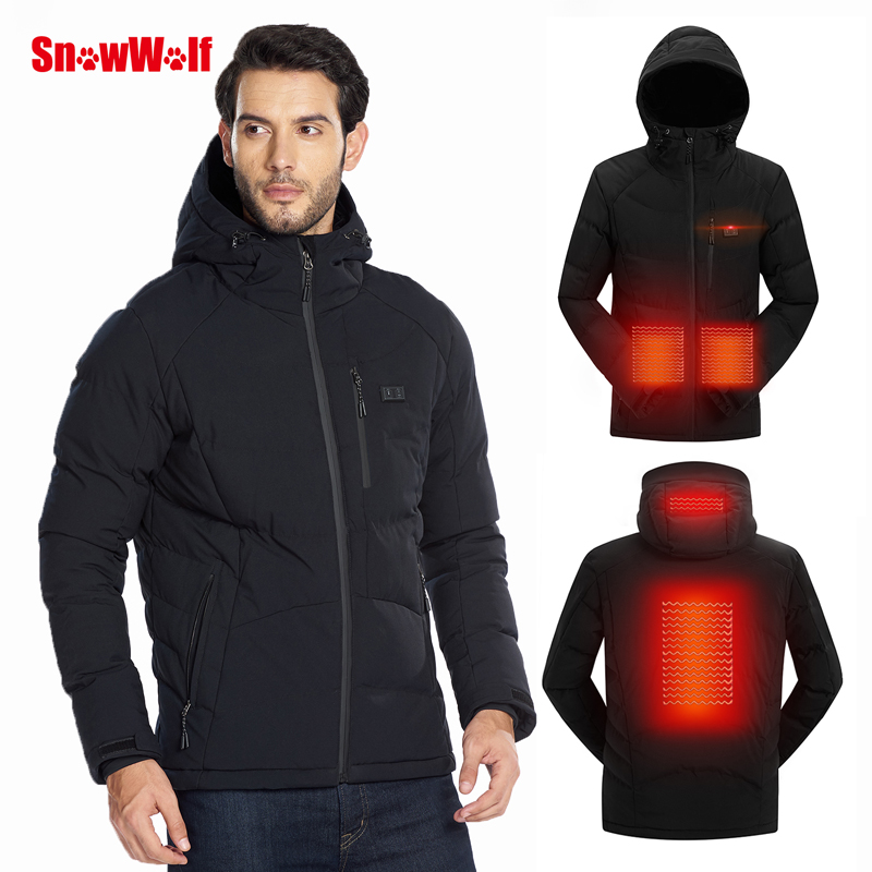 SNOWWOLF Coat Jacket Clothing Hooded Heating Electric Sports Outdoor Hiking Climbing title=