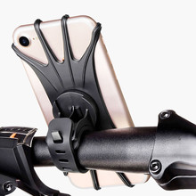Silicone Bicycle Phone Holder for IPhone 11 pro max 6 7 8 plus X Xr Xs for Mobile Phone Mount Band Bike GPS Clip Universal bicycle clamp mount holder bike clip for insta360 one x for osmo mobile 2 3 kit