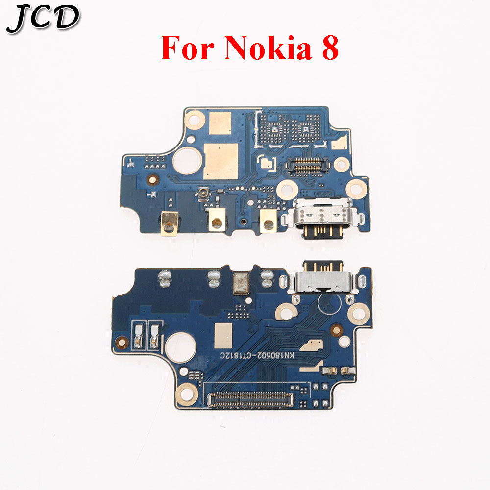 JCD 1Pcs Microphone Charger Board For <font><b>Nokia</b></font> 8 <font><b>TA</b></font>-1012 <font><b>1004</b></font> 1052 USB charging Jack Port connectorFlex Cable Replacement Parts image
