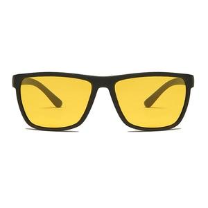 Image 2 - LongKeeper Night Vision Goggles Mens Driving Glass Polarized Sunglasses TR90 Square Anti Glare Yellow Lens Male Sport Gafas