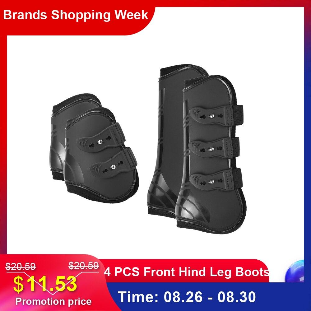 Leg-Boots Leg-Guard Equine Tendon-Protection Equestrian Hind Horse-Hock Front Brace 4pcs
