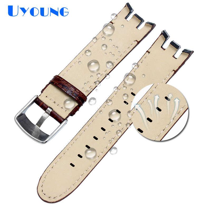 עור אמיתי באיכות גבוהה שעון רצועת עבור דוגמית YRS403 412 402G שעון להקת 21mm רצועת השעון גברים מעוקל סוף שעונים צמיד