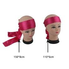 Широкий длинный простой наращивание волос, парики шарф повязка на голову, черный/розовый/белый пустой фронтальный головной платок ремень, 8X150 см
