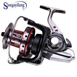Sougayilang 10+1BB AFL10000 Super Big Spool Spinning Fishing Reels Trolling Wheel Full Metal Saltwater Boat Rock Fishing Reel