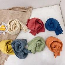 Новый Зимний вязаный мягкий шарф в Корейском стиле для маленьких