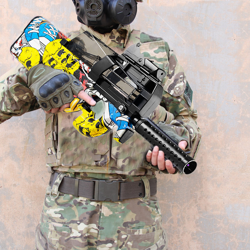 P90 Electric Auto Toy Gun Graffiti Edition Live CS Assault Sniper Weapon Water Bullet Bursts Gun Funny Outdoor Pistol Toys Gifts
