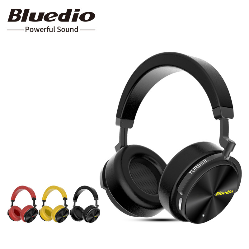 Original Bluedio T5 Bluetooth headset with Active noise cancelling wireless headphone HIFI sound with microphone audio