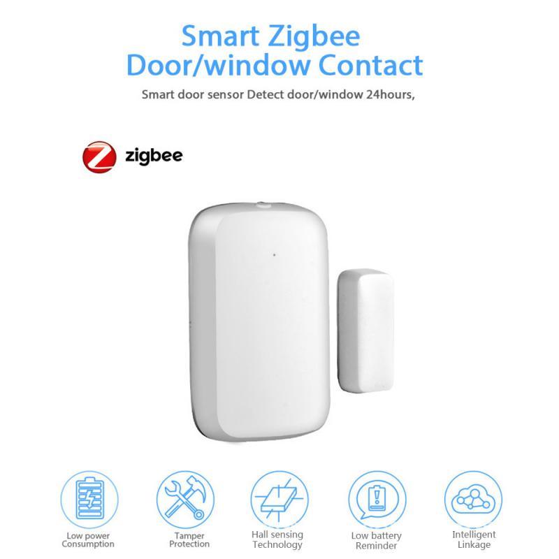 ZigBee Graffiti Smart Door Sensor Intelligent Linkage Security Alarm Wireless Door Window Detector Support Tuya / Smart Life APP
