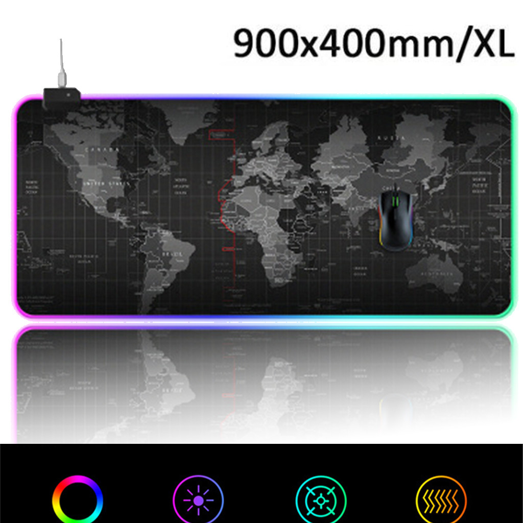 Mouse Pad Gaming <font><b>900x400</b></font> mm Mousepad for Gaming Mouse keyboard XL 14 LED lighting-Mode Computer Colorful Pads Mouse-L826 image