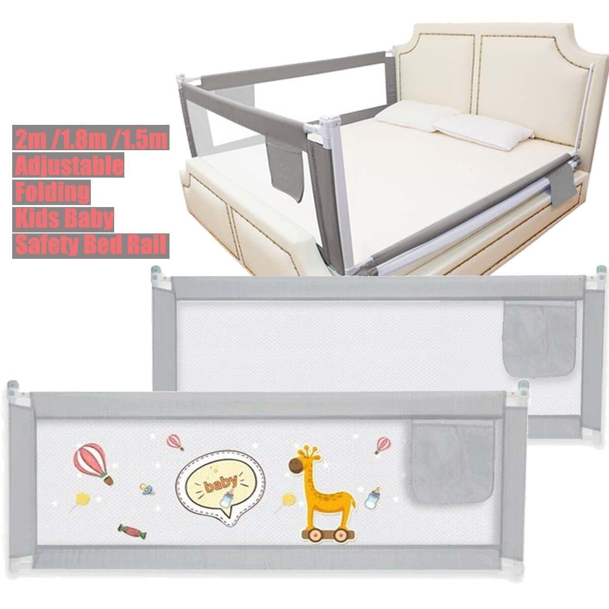 Adjustable Baby Playpen Bed Safety Rails For Babies Children Fences Fence Baby Safety Gate Crib Barrier For Kids Newborn Infants