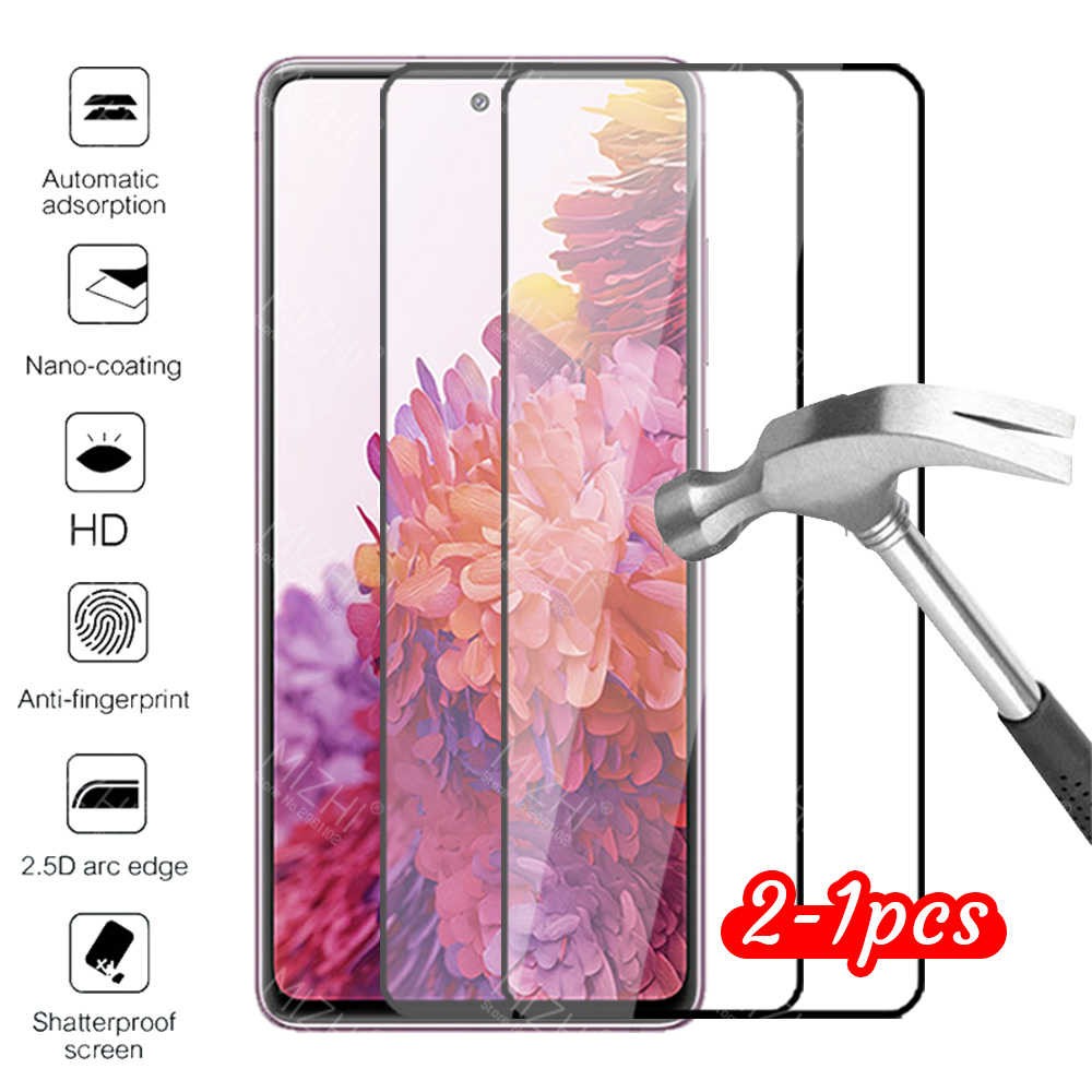 Case untuk Samsung S20 Fe Fan Edition Lite Cover Tempered Glass Galaxy S20 FE 5G Safety Pelindung Ponsel tritone Aksesoris