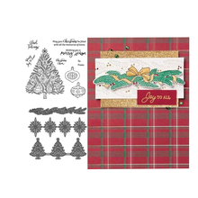 JCarter Rubber Stamps and Metal Cutting Dies for Scrapbook Merry Christmas Tree 2019 Craft Stencil Card Make Album Sheet Decor