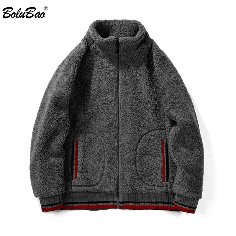 BOLUBAO Fashion Brand Men Hoodies Autumn Winter Men's Round Neck Zipper Cardigan Sweatshirts Male Wool Solid Color Casual Hoodie
